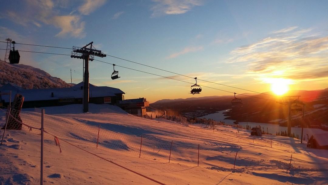 skiën in de lente