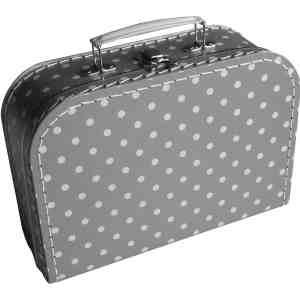 Koffer grijs stip