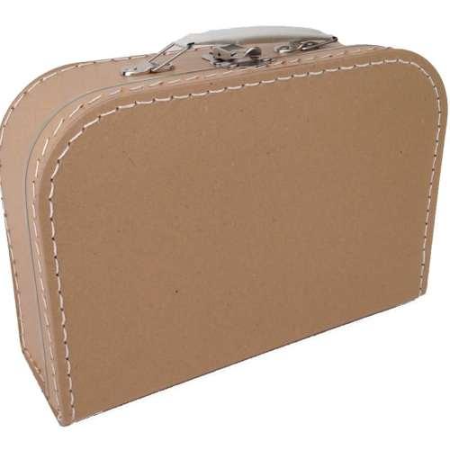 Kraft koffertje met naam en/of afbeelding