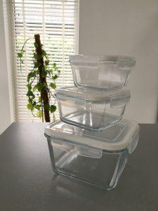 Glazen kommen set met deksel - Ikea shoplog Lievelyne