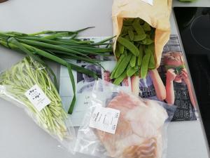Wilde aspergetippen met vis en verse koriander - health in a box