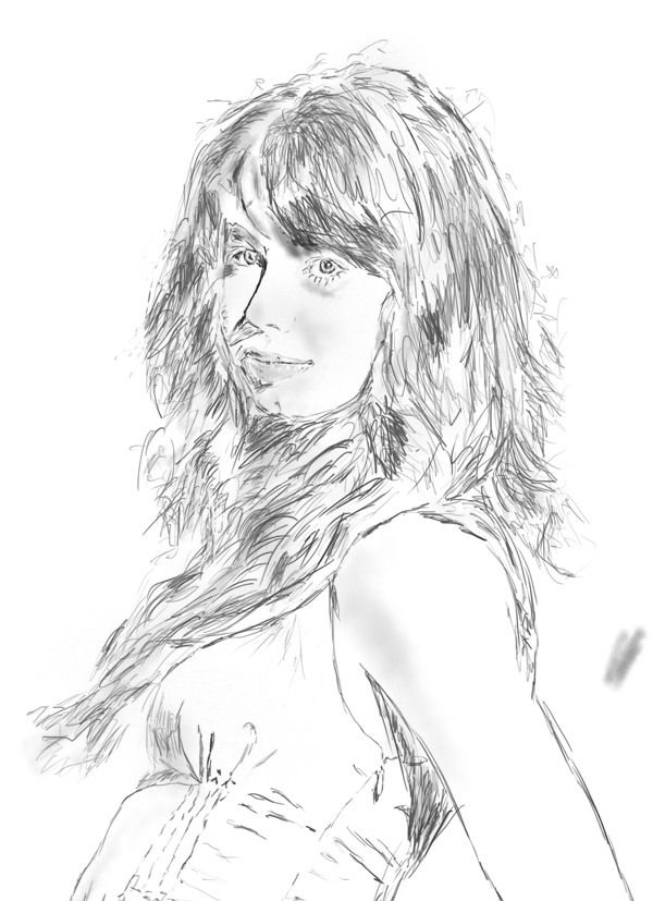Li Fan Photography drawing on computer for the first time