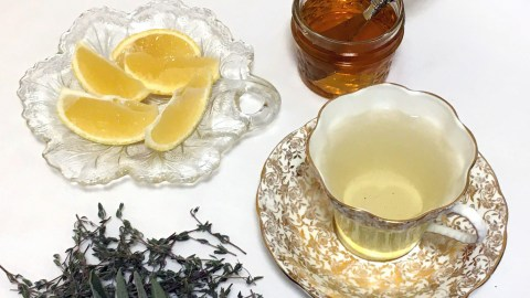 Dried thyme and sage, lemon and honey