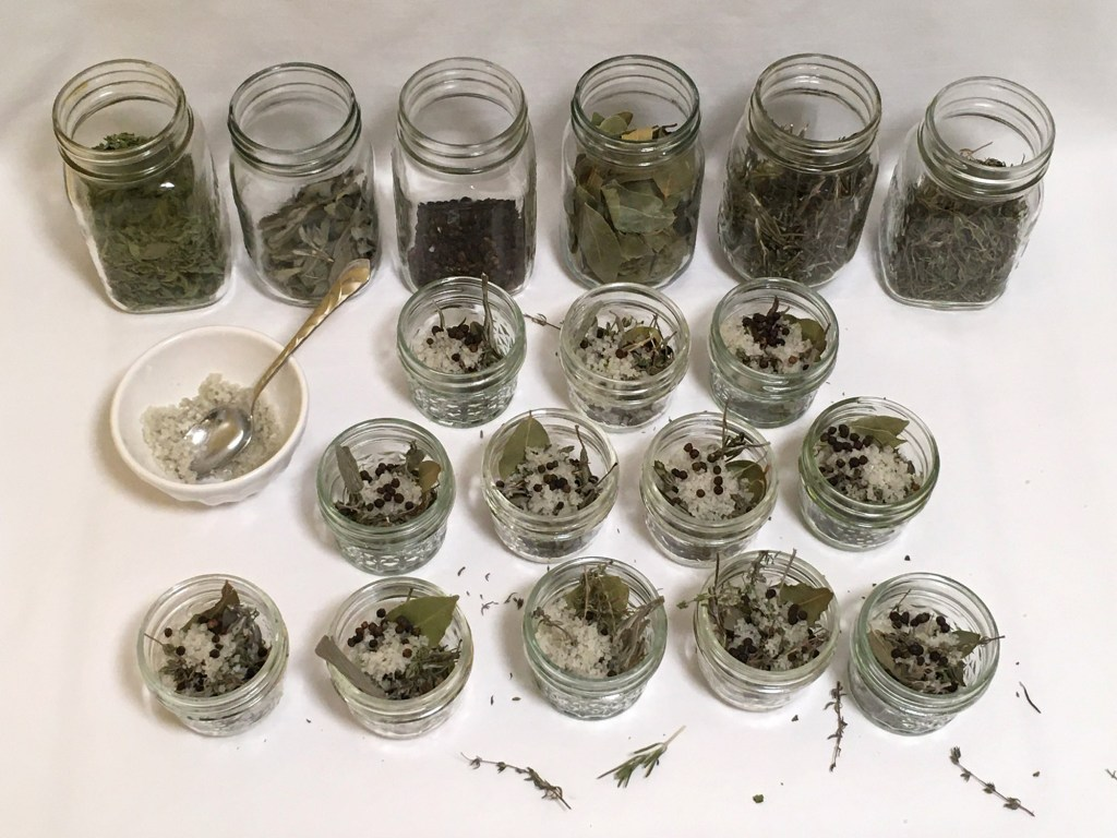 Broth Herb Jars Filled