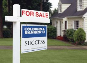 coldwell banker sign selling your house or home