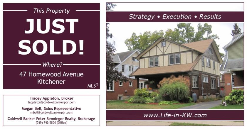 Just Sold - 47 Homewood Ave., Kitchener