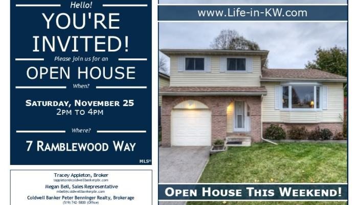 Open House at 7 Ramblewood Way in Forest Heights (Kitchener)