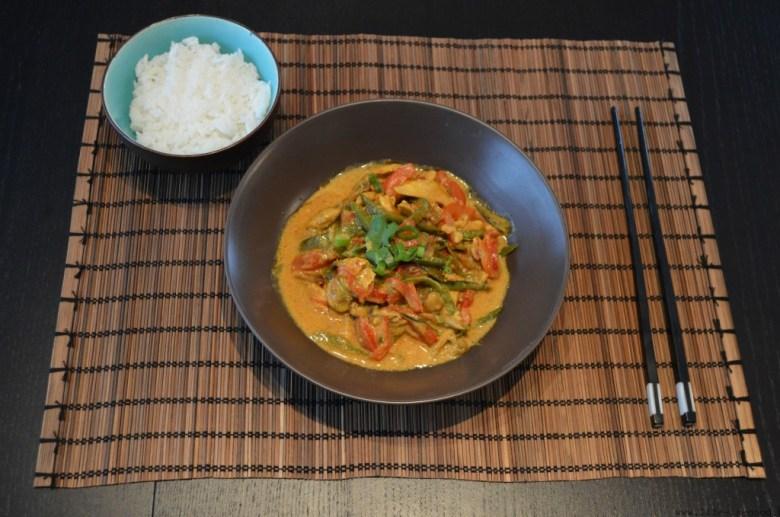 curry met kip