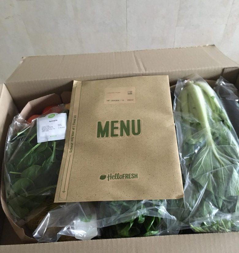 Hello fresh foodbox test