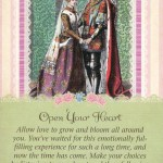 "Open Your Heart, from the Guardian Angel Tarot. This card is traditionally known as ""The Lovers""--and also as ""The Choice."""
