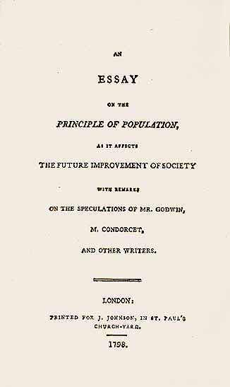 Malthus title page