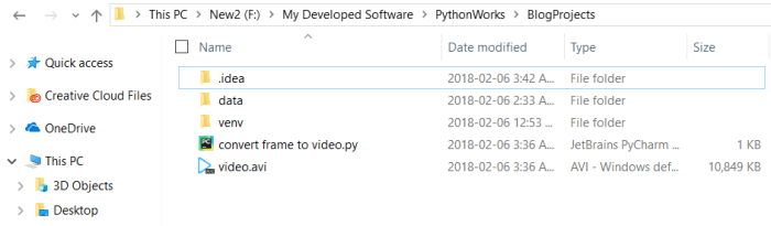 Convert Image Frames to Video File using OpenCV in Python