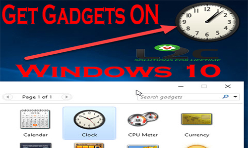 How to Get Gadgets in Windows 10 !