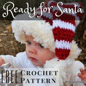 With this quick and free crochet stocking cap pattern, your little one is ready for their first visit from Santa! Adorable on any little boy or girl.