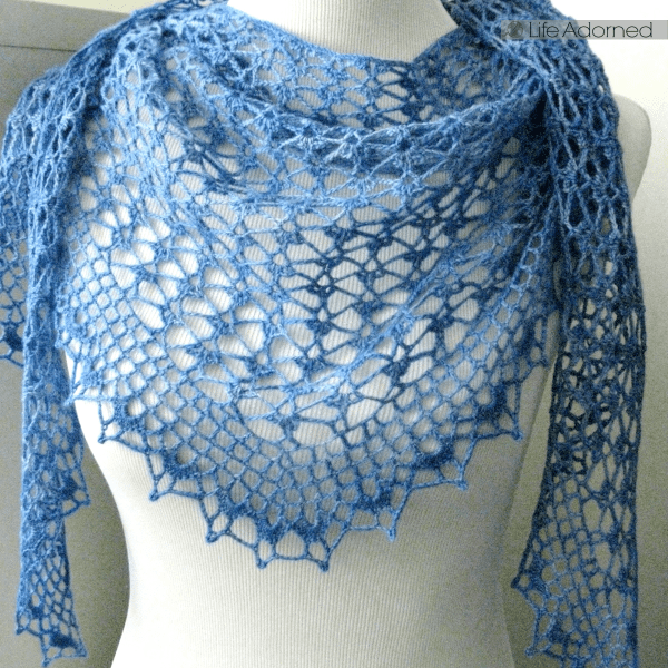 I love crocheting lacy scarves or shawls for new brides. I made this Summer Sprigs Lace Scarf for a dear friend on her special day.