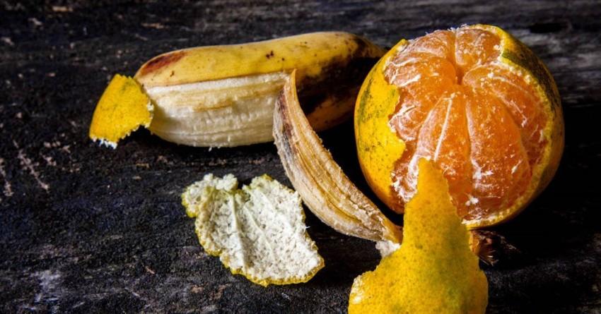 Orange Banana Peels