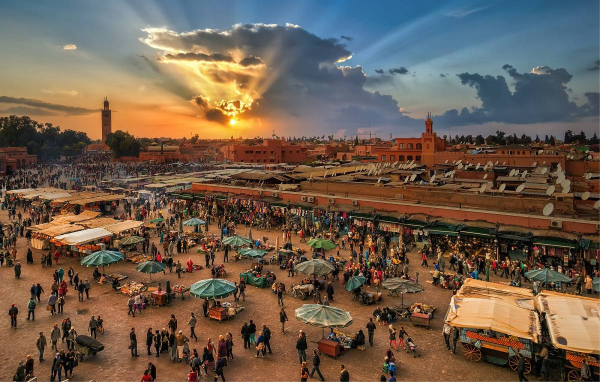 Sunsets Marrakech, Morocco