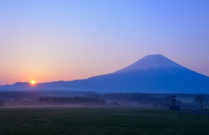 Sunsets Mount Fuji, Honshu Island, Japan