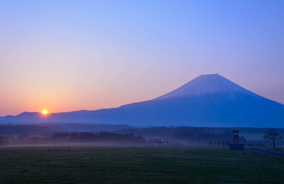 Magnificent Sunsets Mount Fuji, Honshu Island, Japan