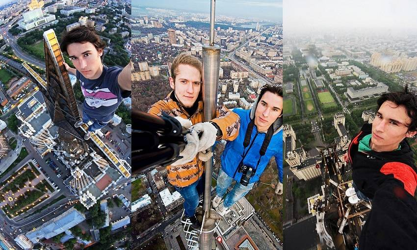 10-Teen Russian Skywalkers Climbing the World's Highest Buildings