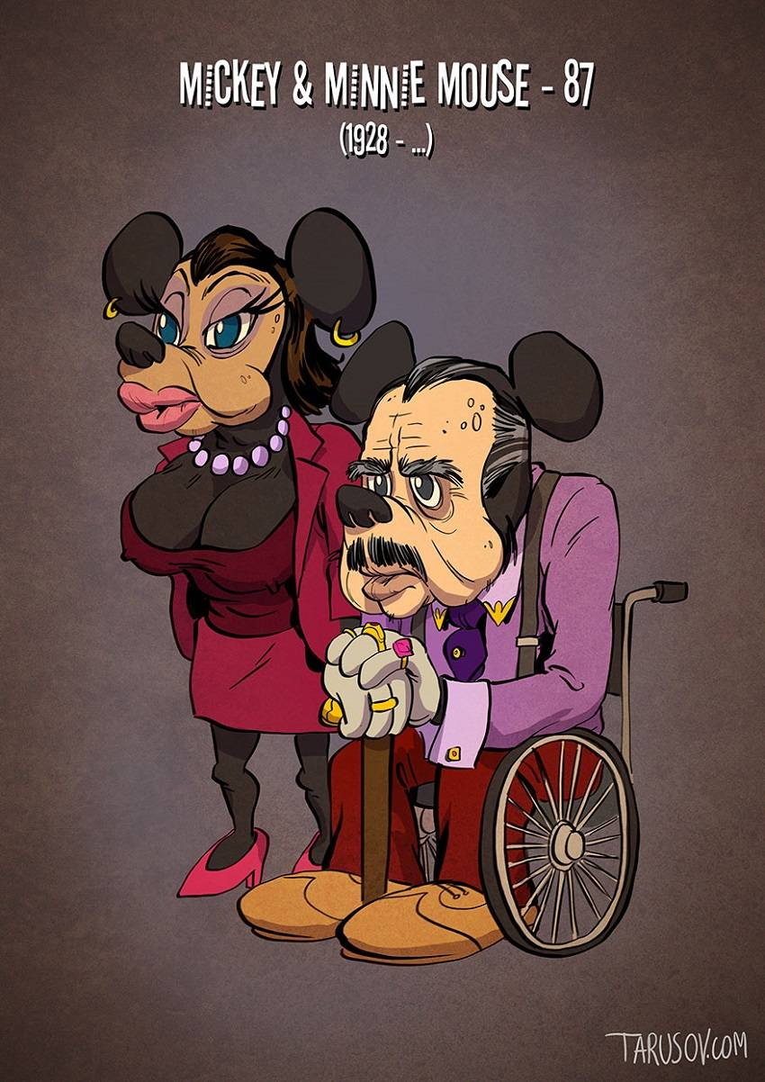 Mickey and Minnie Mouse Famous Cartoon Characters