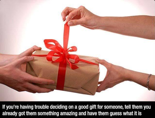 Use guess what strategy for gifts