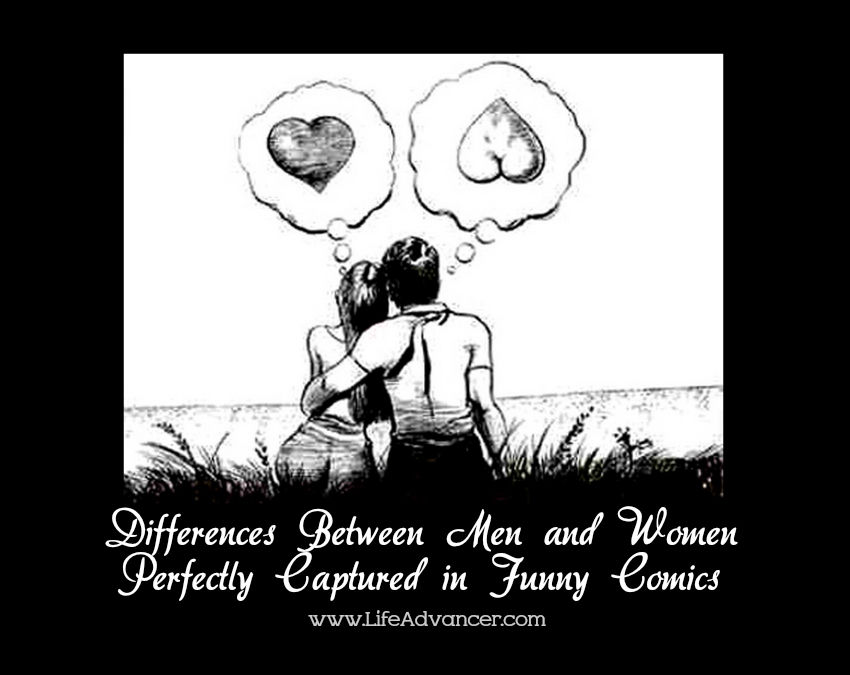Differences Between Men and Women Captured Comics