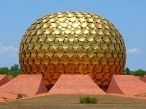 Cities in India: Matri mandir(Auroville), Photo by LoggaWiggler