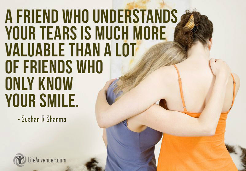 528-A friend who understands your tears