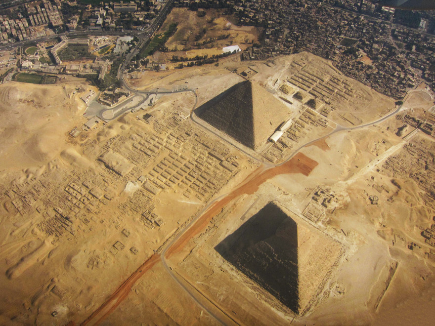 The Giza Pyramids - bird's-eye view
