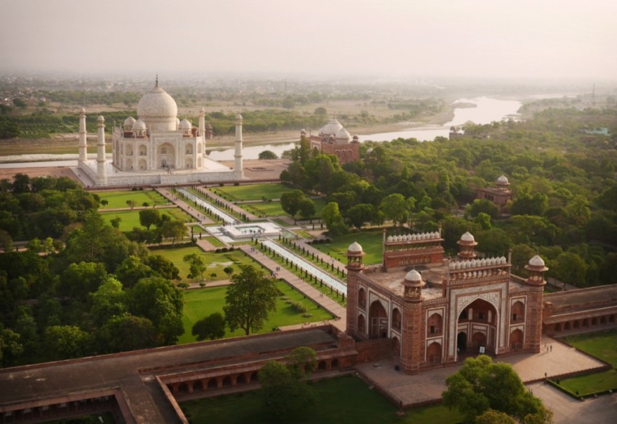 The Taj Mahal - bird's-eye view