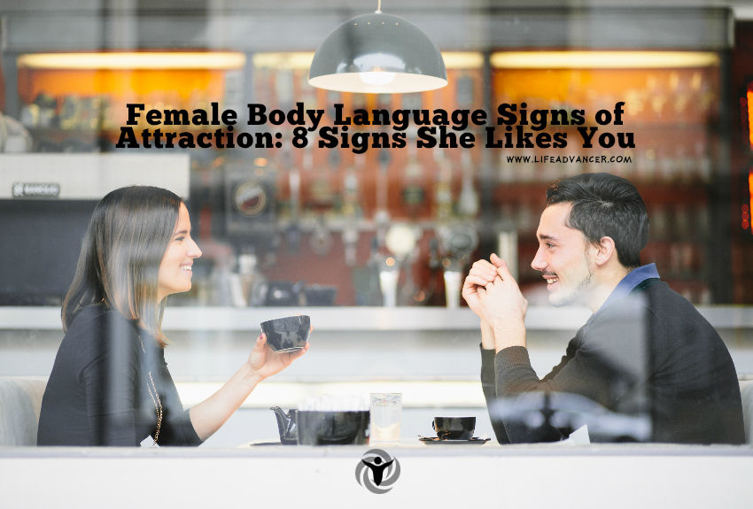 Signs of female attraction to male