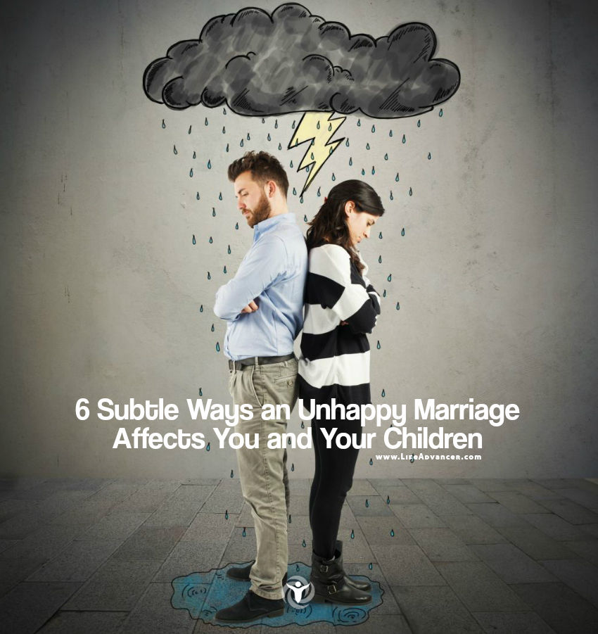 Unhappy Marriage Affects You and Your Children