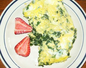 Eggs Florentine with strawberries