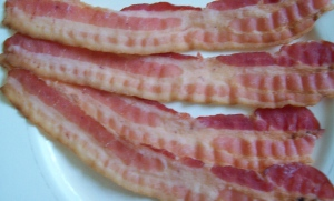 Four strips of bacon