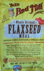 A 16 oz. bag of Bob's Red Mill Flaxseed Meal