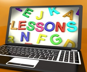 Lessons message on a computer