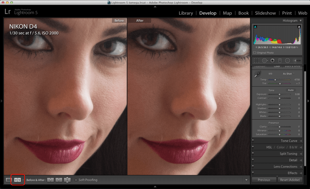 Lightroom portrait enhancement