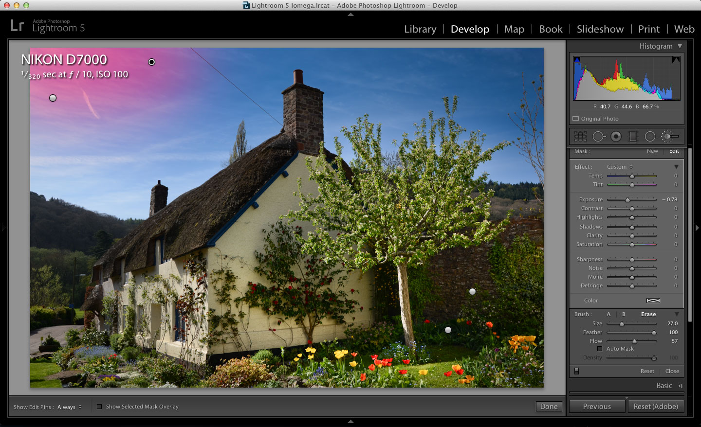 Lightroom adjustment brush