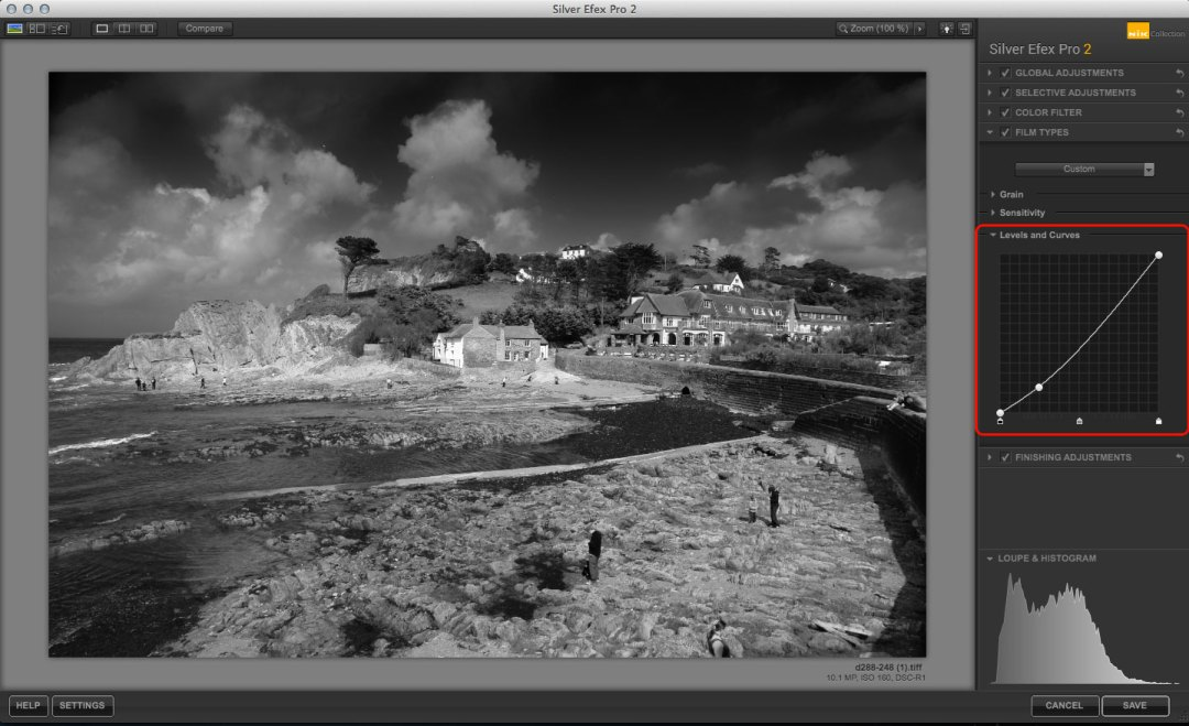 Silver Efex Pro Sensitivity settings