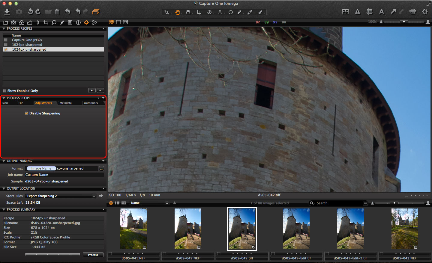 Export sharpening using DxO and Capture One - Life after Photoshop
