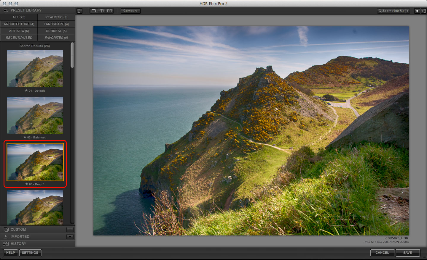 Boost landscapes with HDR Efex Pro