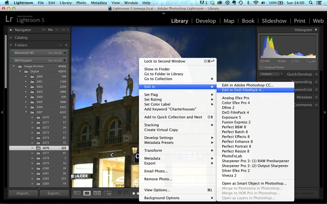 Lightroom 5.3 external editors