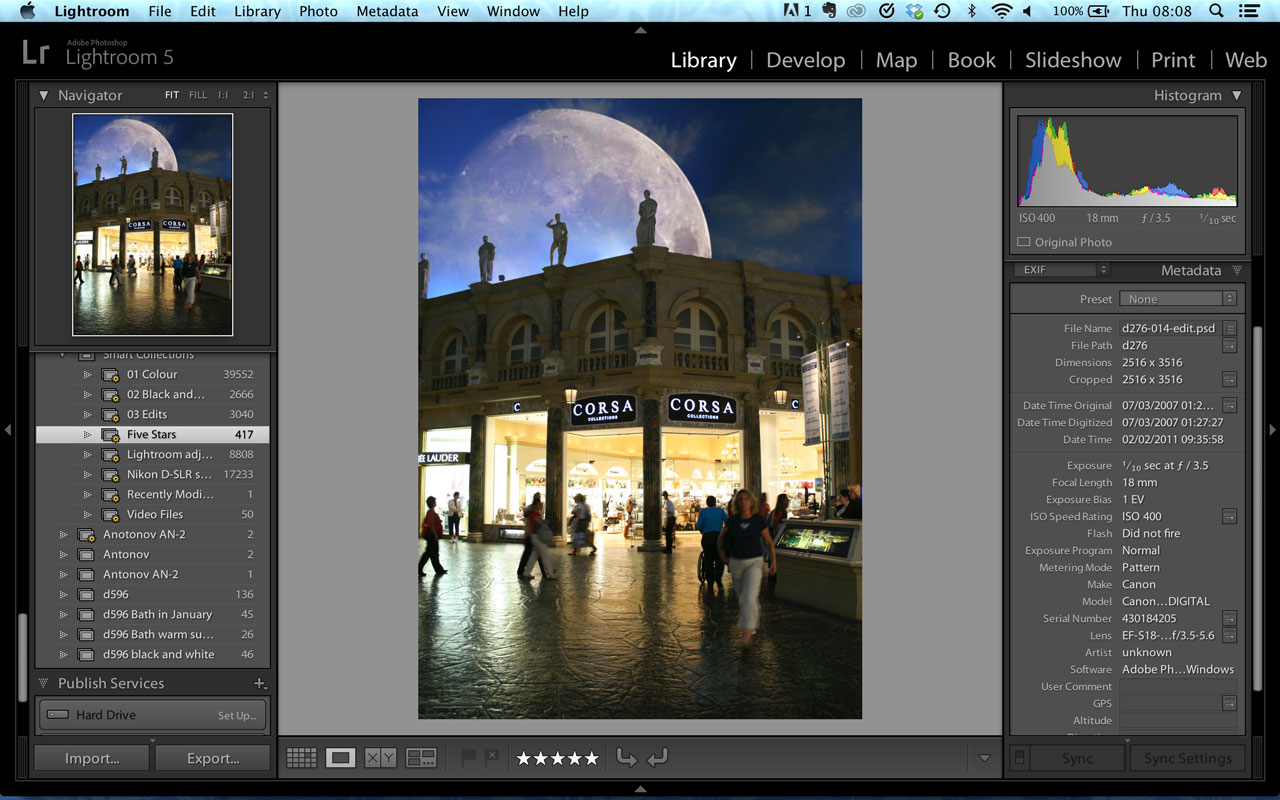 Lightroom navigation