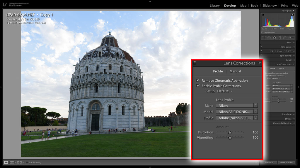 BAN adjustments in Lightroom