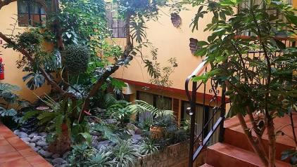Courtyard inside the hostel