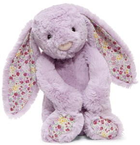 Purple Bunny with Flowers
