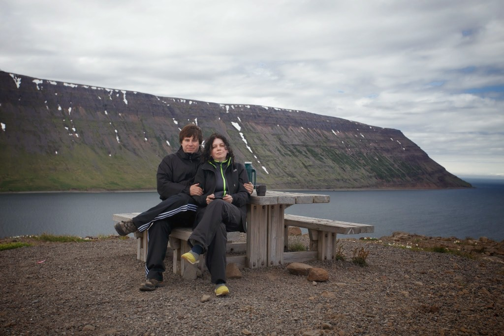 Westfjords -- us on a picnic area