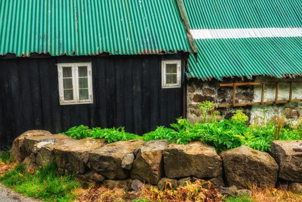 A house in Viðareiði