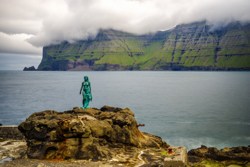 Mikladalur -- statue of the sealwoman